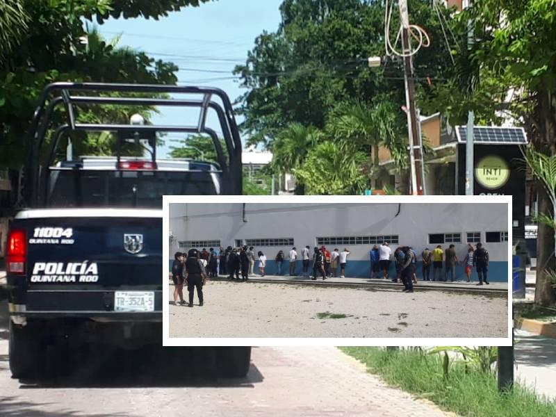 Mega operativo en zona turística de Playa del Carmen; hay 26 detenidos