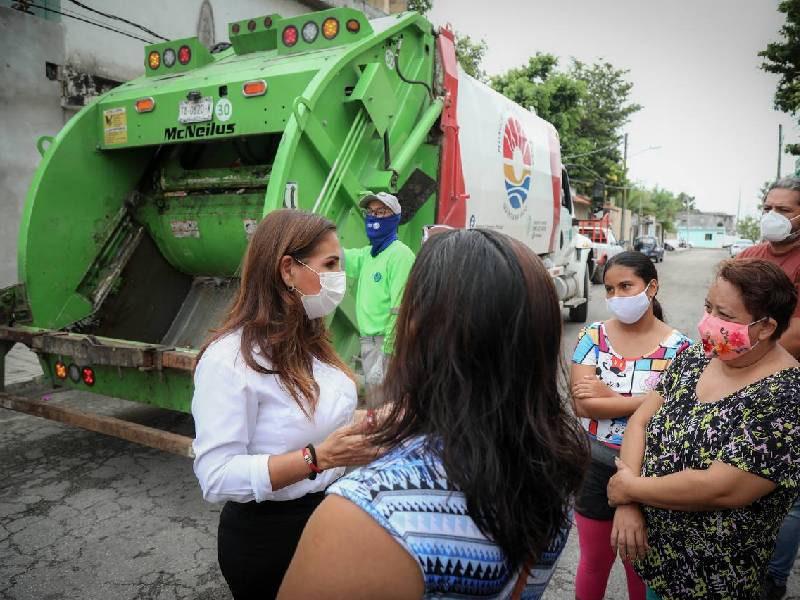Supervisa Mara servicio de recolección de basura