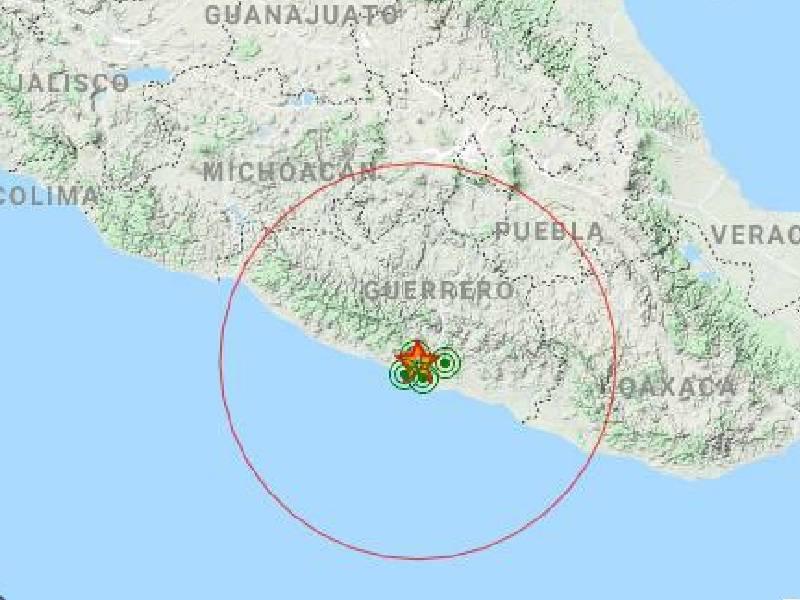 Se registra sismo de magnitud 4 en Acapulco, Guerrero