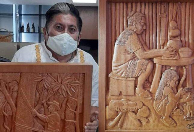 Obra de artesano maya de Felipe Carrillo Puerto trasciende y llega hasta Brasil